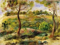 Landscape by Pierre Auguste Renoir Handmade oil painting reproduction on canvas for sale,We can offer Framed art,Wall Art,Gallery Wrap and Stretched Canvas,Choose from multiple sizes and frames at discount price. Pierre Auguste Renoir, August Renoir, Renoir Paintings, Oil Paintings, Oil Painting Reproductions, Light Painting, Claude Monet, French Artists, Modern Art