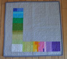 No Prints Allowed Quilt Back-I LOVE the different quilting in each block