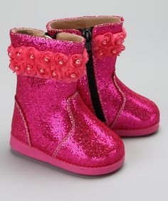Take a look at this Hot Pink Rosy Diva Tootin' Tootsie Squeaker Boot by Chicky Chicky Bling Bling on #zulily today!