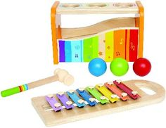 Hape Early Melodies Pound n Tap Bench Pounding sends the balls tinkling over the xylophone. Pull out the keyboard and the xylophone can be played solo.... (Barcode EAN=6943478002340) http://www.MightGet.com/january-2017-12/hape-early-melodies-pound-n-tap-bench.asp