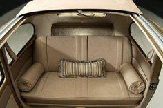 1957 Oval Ragtop Beetle. Back seat Sofa