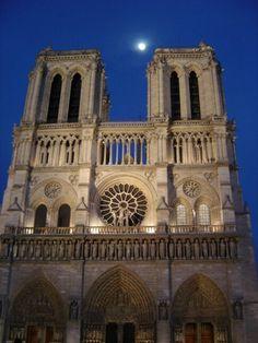 Notredamme por la noche. Paris. Francia/ Notredamme by night. Paris. France