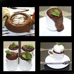 Para uno o para cuatro, desbordante o cremoso, un volcán de chocolate siempre es la mejor opción para una velada romántica. Cupcake Cakes, Cupcakes, Ideas, Amor, Romantic Evening, Easy Recipes, Deserts, Chocolate Lava Cake, Volcanoes
