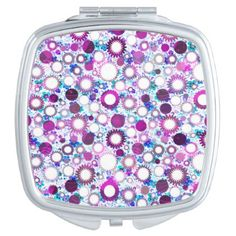 Cute colorful flowers suns patterns makeup mirror - individual customized designs custom gift ideas diy