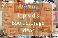 creative kids book storage