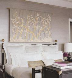 Suzie: Elle Decor - Carlos Mota - lilac & gray bedroom design with gray walls paint color, ...
