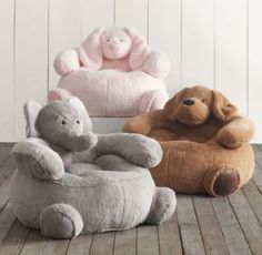 RH Baby & Child's Cuddle Plush Elephant Chair:The softest seat in the house is also one of the friendliest.