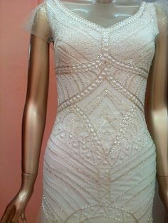 Gatsby inspired gown with heavy beadwork Gatsby, Beadwork, Wedding Designs, Gowns, Bride, Inspired, Detail, Wedding Dresses, Inspiration