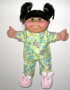 Cabbage Patch Doll Easter Clothes Kitty Pajamas by Dakocreations