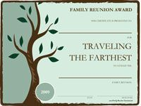 Family Reunion Award Templates