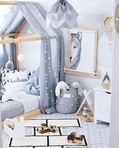 Inspiration from Instagram - boys room ideas - grey and white boys room - scandi style