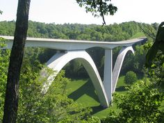 The Natchez Trace Parkway Bridge, viewed from the north.