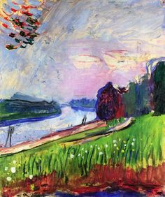 """Henri Matisse - Copse of the Banks of the Garonne 1900 """