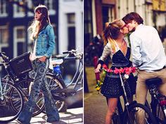 Free People's January catalog, shot by Guy Aroch in bike friendly Amsterdam