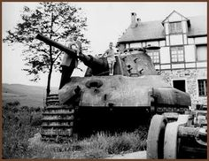 Tiger II 213 at La Gleize before its restoration