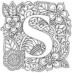 Alphabet Flower M Coloring Pages - Free Printable Coloring ...