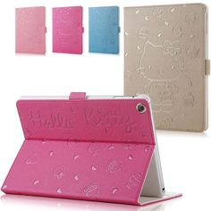 Hot- sale Popular new fashion hello kitty Flip Stand Leather Case Cover For iPad Air 1 for ipad 5 Retina