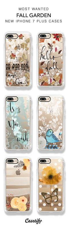 Fall is in full swing! Shop the best selling Fall Garden iPhone 7 and iPhone 7 Plus phone cases here > https://www.casetify.com/artworks/TGN7IsmToa