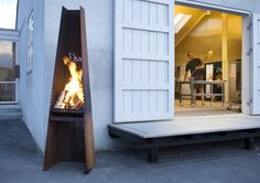 Rais Gizeh Wood Outdoor Fireplace and Grill