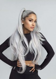 Color hair gray and proudly present ariana grande Ariana Grande Outfits, Ariana Grande Hair Color, Ariana Grande Cute, Ariana Grande Fotos, Ariana Grande Photoshoot, Ariana Grande Hairstyles, Ariana Grande Hair Tutorial, Grey Hair Dye, Dyed Hair