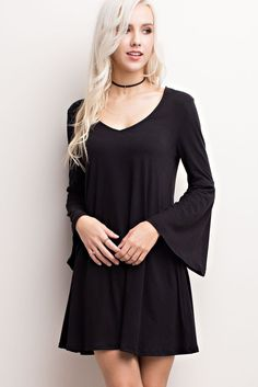 Bell Tower dress in black - JoLa's Boutique  - 1