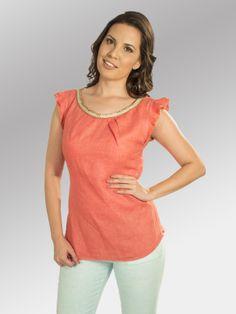 Blusa Ecco #moda #lino #SS2014 www.abito.com.mx
