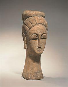 modigliani sculpture tête de femme - Com Malú Antunes