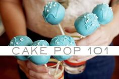 Easy DIY cake pop Tutorial - Sticking the cake pop stick into the chocolate before putting it in the cake pop? Hadn't heard that insider info before!!