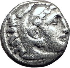 ALEXANDER III the GREAT 322BC Authentic Ancient Silver Greek Coin ZEUS i64685
