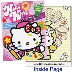 Kids' Paint With Water Kits - Hello Kitty Paint with Water Book 16 Tear Out Pages >>> You can get more details by clicking on the image.
