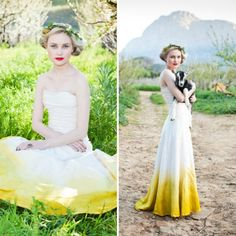 I Dont Much Care For The Top Of Dress But Love White To Yellow Ombre These 18 Unique Ideas That Will Have You Ditching Traditional