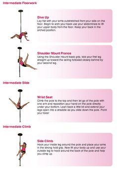 Pole Dance Training - Intermediate floorwork, slide and climb