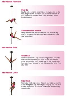 Pole Dance Training - Intermediate floorwork, slide and climb