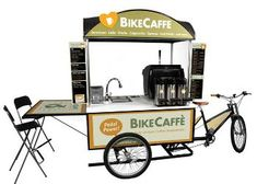 For Coffee Lovers Mobile Catering, Bbq Catering, Coffee Carts, Coffee Truck, Bike Coffee, Bicycle Cart, Mobile Food Cart, Mobile Coffee Shop, Food Cart Design