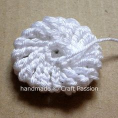 Crochet YoYo Puff - FREE PATTERN And PHOTO TUTORIAL (Could be used as a flower.)