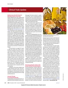 JAMA Article: Mediterranean Diet With Olive Oil May Reduce Breast Cancer Risk