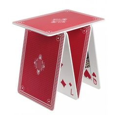 Table made from oversized playing cards. #furniture #decor