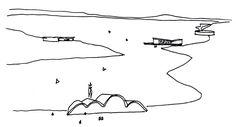 Desenho do arquiteto Oscar Niemeyer. Foto: Acervo Iphan.