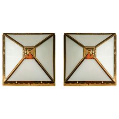 Pair of Art Deco Style Ceiling Lights | From a unique collection of antique and modern flush mount at https://www.1stdibs.com/furniture/lighting/flush-mount-ceiling-lights/