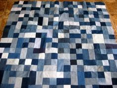 Jeans Pocket Quilt | Gathering the jeans, wash, dry, press the denim, and then find a ...
