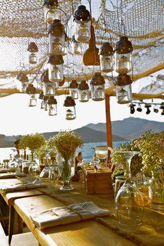 Dîner organisé par la conciergerie de luxe Magnificent à Mykonos