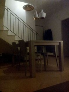 table, chairs and lighting