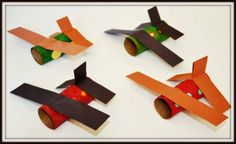 Our ever favorite TP rolls have sent us to make another paper roll craft . This time we made Airplanes. This is a super easy and very kid friendly paper roll craft. One of the things I like Kids Crafts, Craft Activities For Kids, Toddler Crafts, Projects For Kids, Preschool Activities, Arts And Crafts, Craft Kids, Toilet Paper Roll Crafts, Paper Crafts
