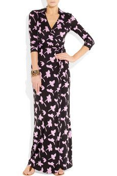 I love the casual elegance of long wrap dresses, and seriously, who's gonna do it better than DvF?