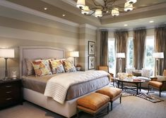 master bedroom....love the lighting and the walls!