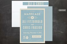 Vintage Retro Type Wedding Invitation Suite by Lehan Veenker at minted.com