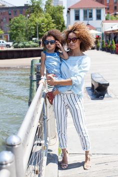 SO sweet! Great Mommy & me photo~Scout The City | chambray hues