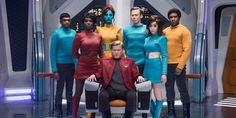 """Netflix has released two photos from Black Mirror Season 4 episodes """"USS Callister,"""" a """"Star Trek"""" spoof, and """"Arkangel,"""" which is directed by Jodie Foster."""