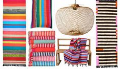 I NEED that black & natural striped kilim. #just saying...