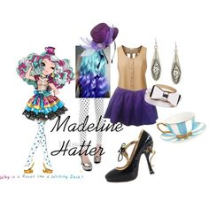 ever after high madeline hatter by didneyworl on Polyvore featuring J.TOMSON, Lynley, Miu Miu, 1928, Jesus Del Pozo, Wet Seal and David Jones